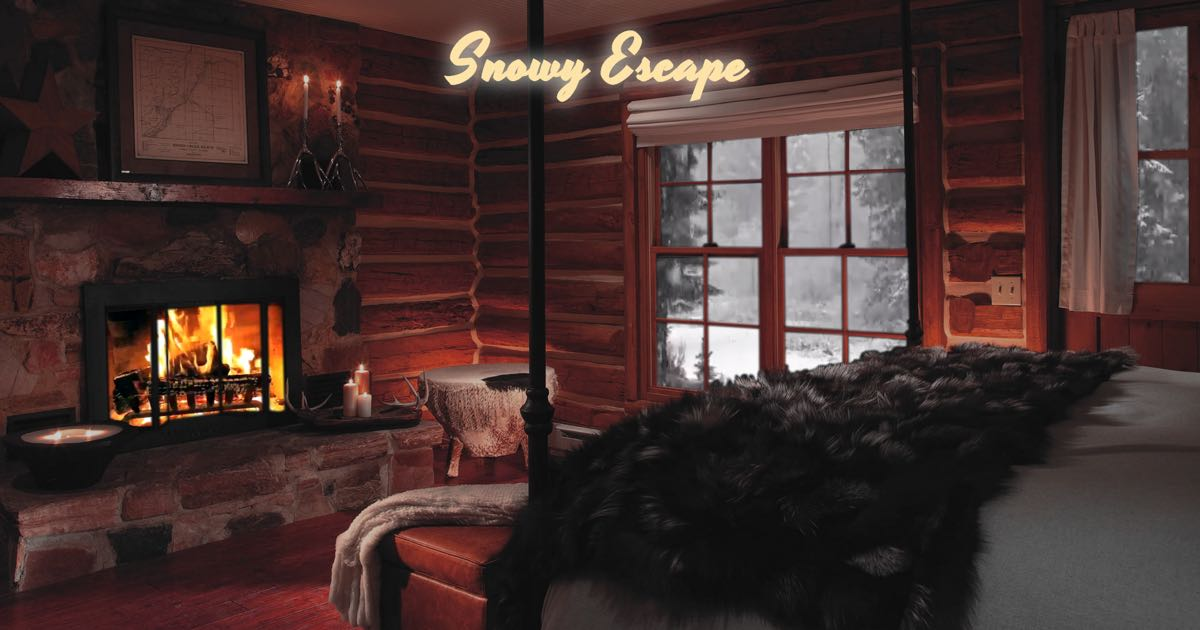 Fireplace Design fireplace sounds : Snowy Escape